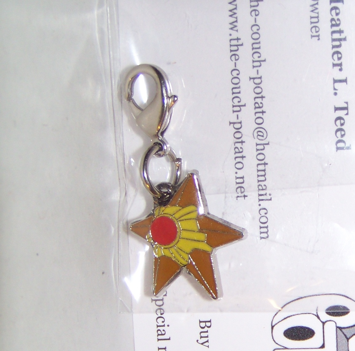 Pokemon Center Staryu Charm
